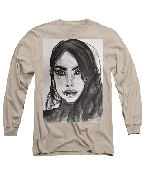 Long Sleeve T-Shirt featuring the painting Wintertime Sadness by Jarko Aka Lui Grande
