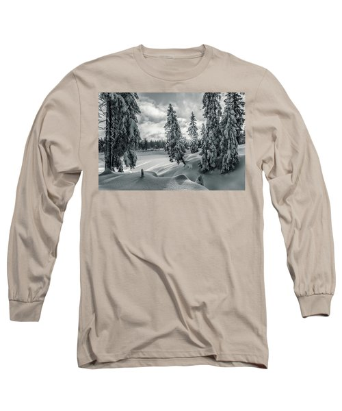 Winter Wonderland Harz In Monochrome Long Sleeve T-Shirt by Andreas Levi