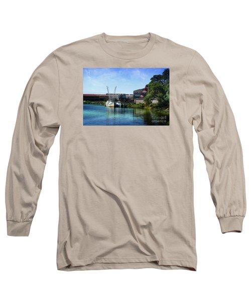 Winyah Bay Georgetown Sc Long Sleeve T-Shirt by Kathy Baccari