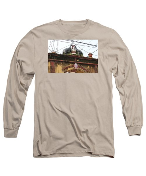 Wires And Lakshmi At Devi Temple, Kochi Long Sleeve T-Shirt