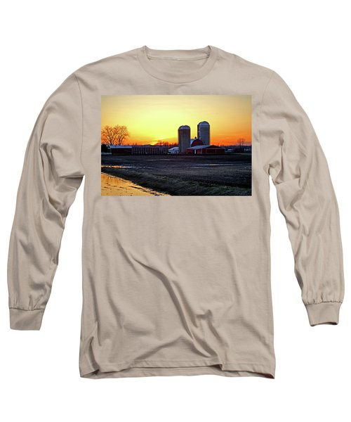 Long Sleeve T-Shirt featuring the photograph Wisconsin At Sunset by Jean Haynes