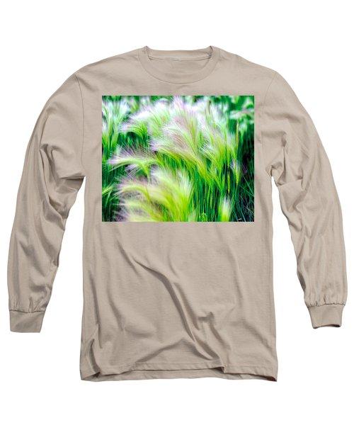 Wispy Green Long Sleeve T-Shirt