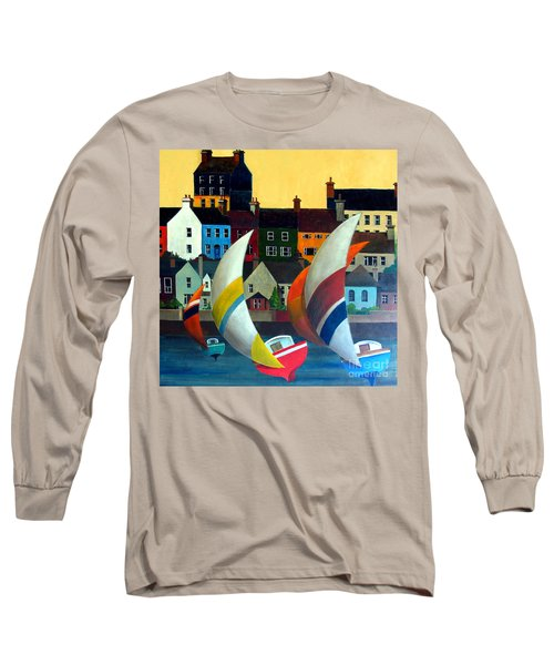 With The Wind In Kinsale, West Cork Long Sleeve T-Shirt