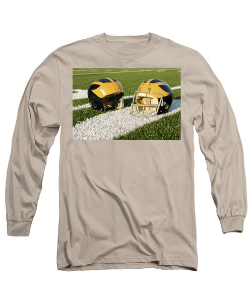 Wolverine Helmets From Different Eras On The Field Long Sleeve T-Shirt