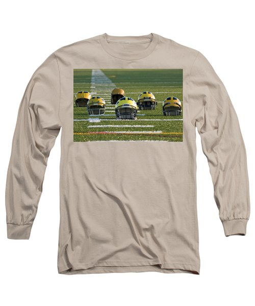 Wolverine Helmets Throughout History On The Field Long Sleeve T-Shirt