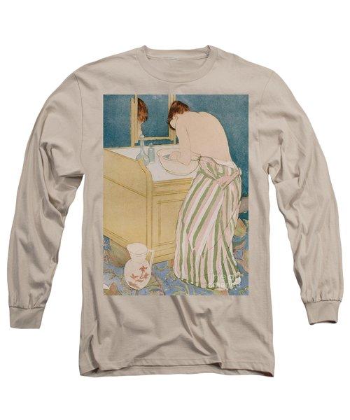 Woman Bathing Long Sleeve T-Shirt