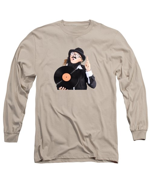 Long Sleeve T-Shirt featuring the photograph Woman Disc Jockey by Jorgo Photography - Wall Art Gallery