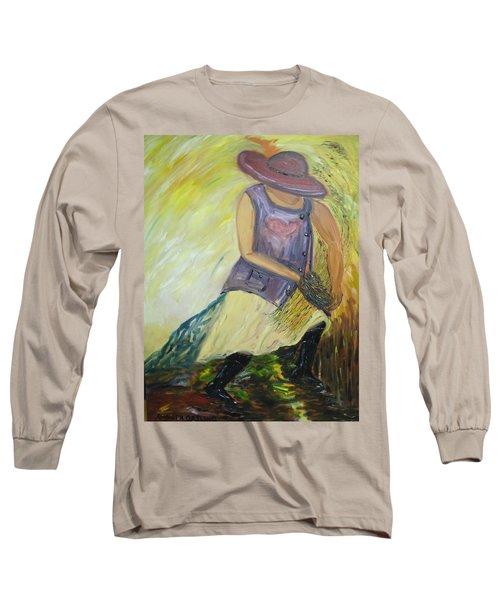 Woman Of Wheat Long Sleeve T-Shirt