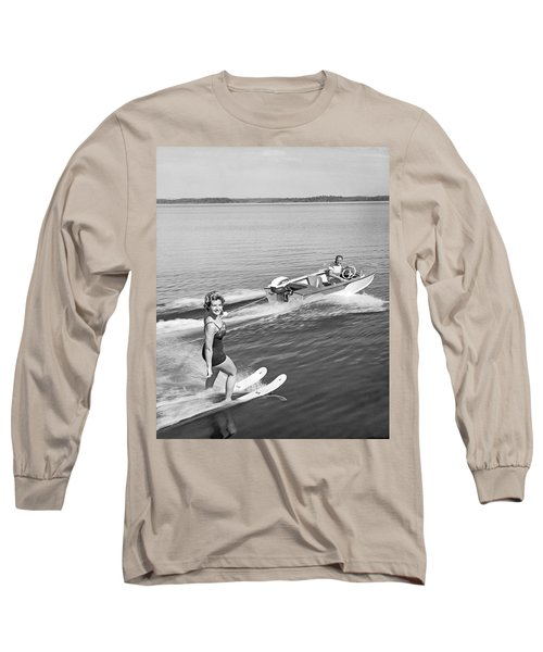 Woman Water Skiing Long Sleeve T-Shirt