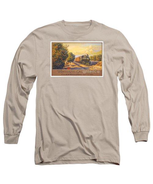 Wonderful California Long Sleeve T-Shirt by Nostalgic Prints