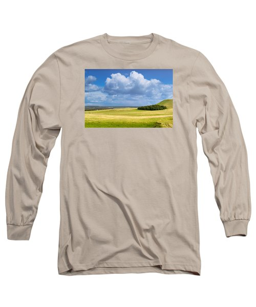 Wood Copse On A Hill Long Sleeve T-Shirt by John Williams