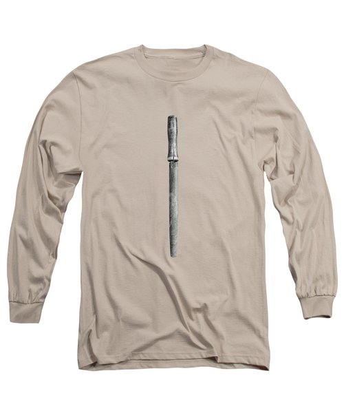Wood Handled File On Plywood 71 In Bw Long Sleeve T-Shirt
