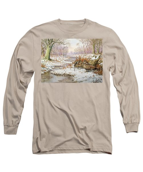 Woodcock Long Sleeve T-Shirt by Carl Donner