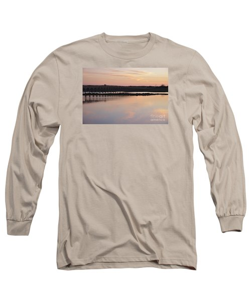 Wooden Bridge And Twilight Long Sleeve T-Shirt by Angelo DeVal