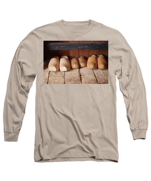 Long Sleeve T-Shirt featuring the photograph Wooden Clogs by Emanuel Tanjala