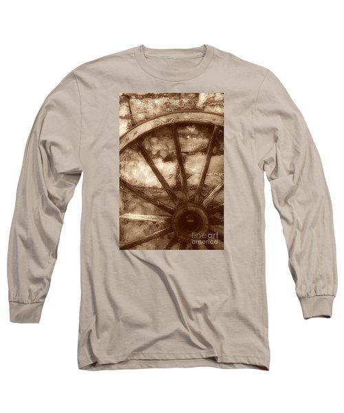 Wooden Wagon Wheel Long Sleeve T-Shirt