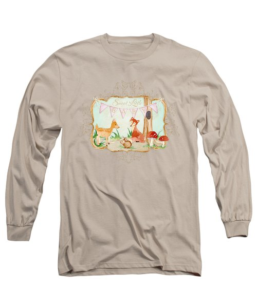 Woodland Fairytale - Banner Sweet Little Baby Long Sleeve T-Shirt by Audrey Jeanne Roberts