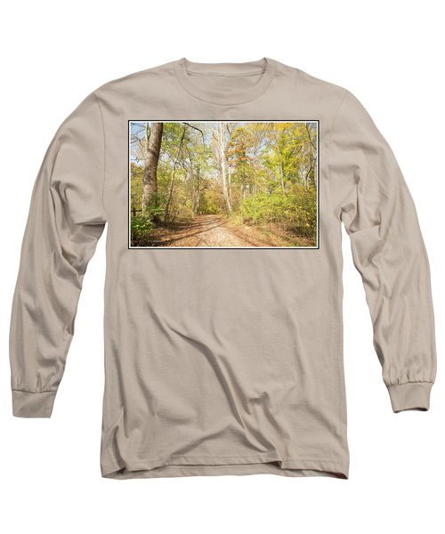 Woodland Path, Autumn, Montgomery County, Pennsylvania Long Sleeve T-Shirt by A Gurmankin