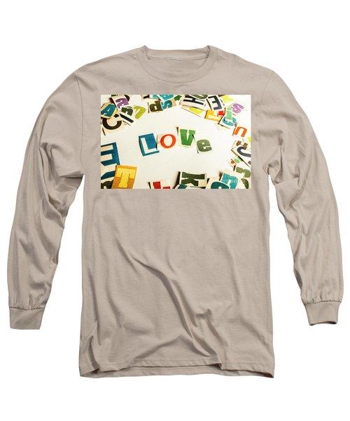 Word Of Love Long Sleeve T-Shirt