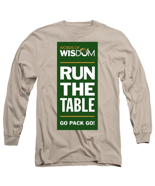 Words Of Wisdom Long Sleeve T-Shirt