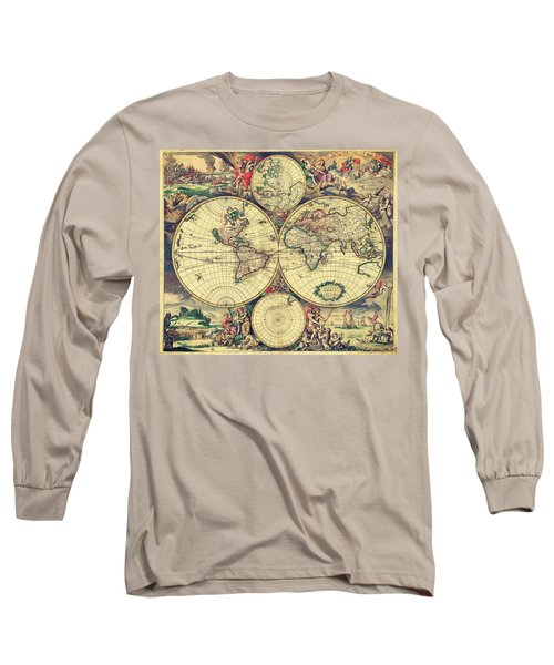 World Map 1689 Long Sleeve T-Shirt