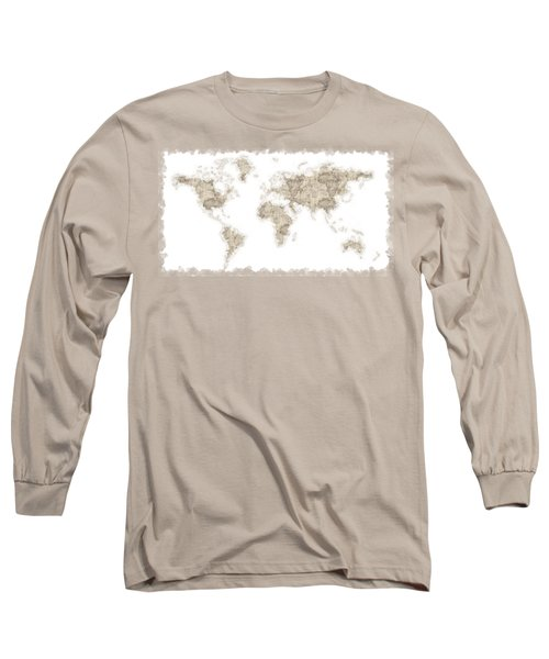 World Map Long Sleeve T-Shirt by Anton Kalinichev