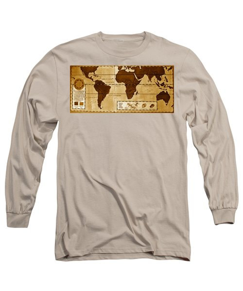 World Map Of Coffee Long Sleeve T-Shirt