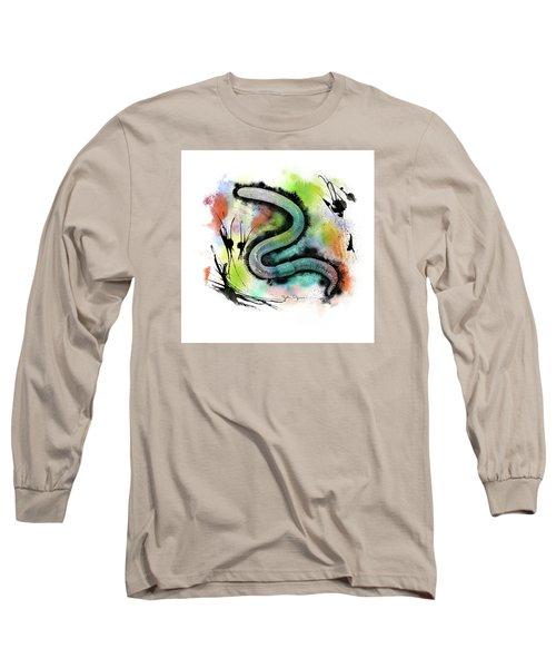 Worm Illustration Long Sleeve T-Shirt