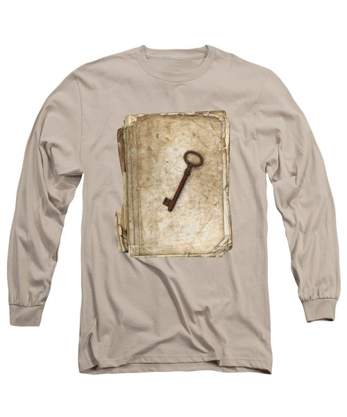 Worn And Tattered Book And Old Rusty Key Long Sleeve T-Shirt