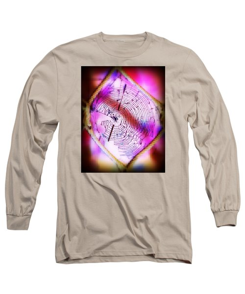 Woven Web Long Sleeve T-Shirt