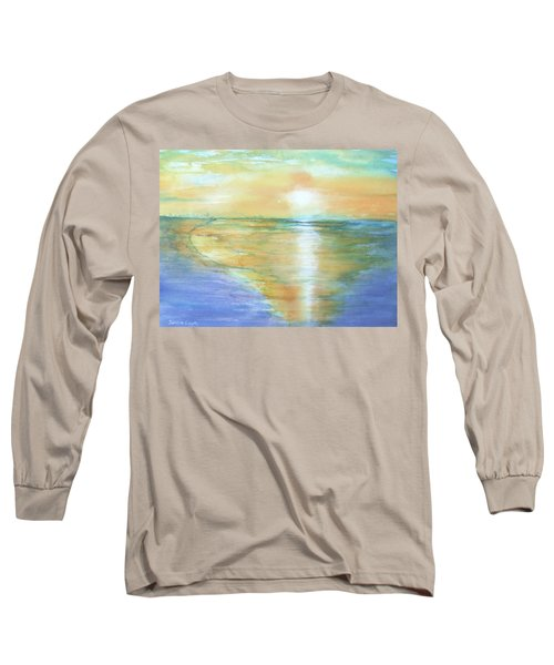 Wow Sunset Long Sleeve T-Shirt by Debbie Lewis