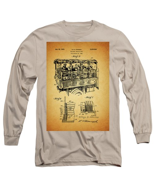 Ww2 Military Transport Vehicle Long Sleeve T-Shirt by Dan Sproul