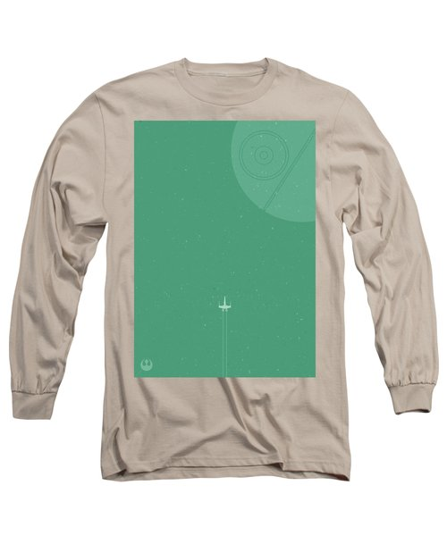 X-wing Meets Death Star Long Sleeve T-Shirt