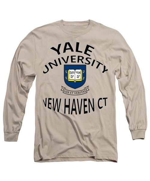 Long Sleeve T-Shirt featuring the digital art Yale University New Haven Connecticut  by Movie Poster Prints