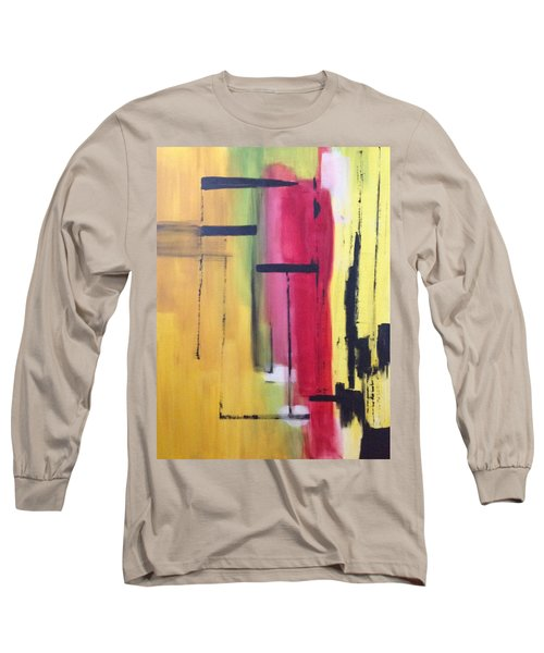 Yellow Abstract Long Sleeve T-Shirt