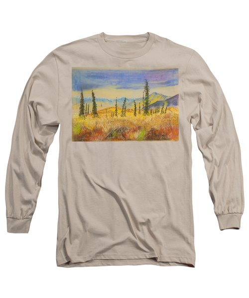 Yellow Alaska Long Sleeve T-Shirt