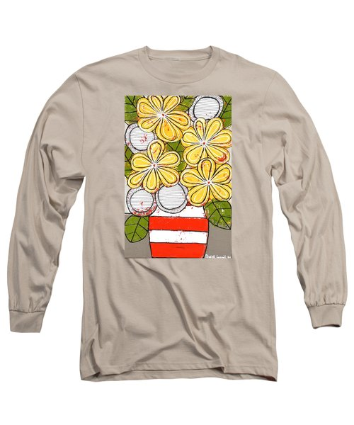 Yellow And White Flowers Long Sleeve T-Shirt
