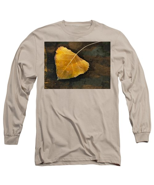 Yellow Autumn Leaf Long Sleeve T-Shirt