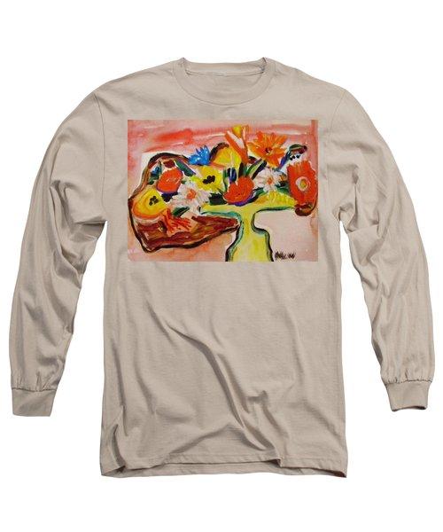 Yellow Blown Glass Vase Long Sleeve T-Shirt