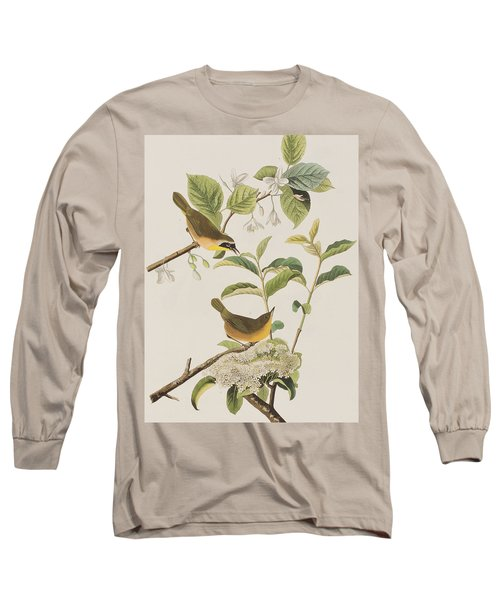 Yellow-breasted Warbler Long Sleeve T-Shirt by John James Audubon