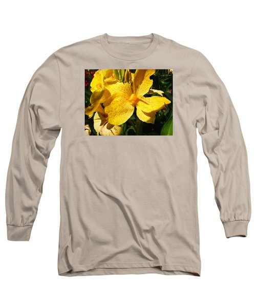 Long Sleeve T-Shirt featuring the photograph Yellow Canna Lily by Shawna Rowe