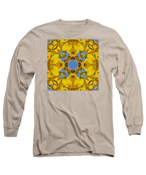 Yellow Coneflower Kaleidoscope Long Sleeve T-Shirt