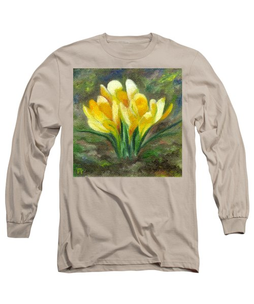 Yellow Crocus Long Sleeve T-Shirt