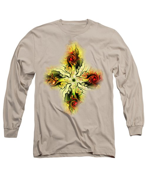 Yellow Cross Long Sleeve T-Shirt