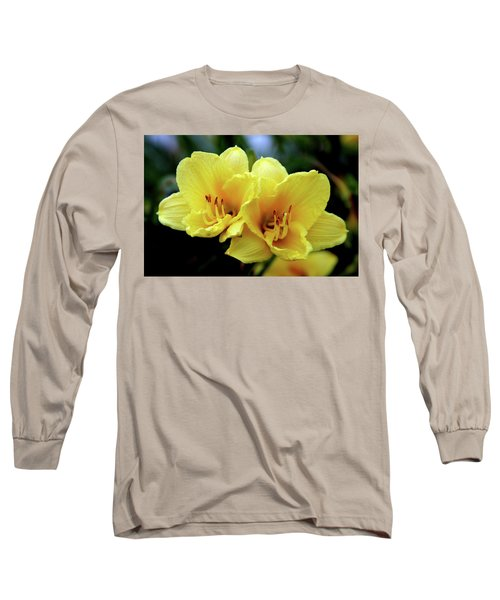Yellow Daylilly 0204 H_2 Long Sleeve T-Shirt
