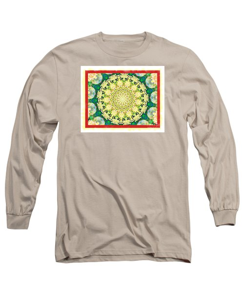 Long Sleeve T-Shirt featuring the photograph Yellow Floral Medallion by Shirley Moravec