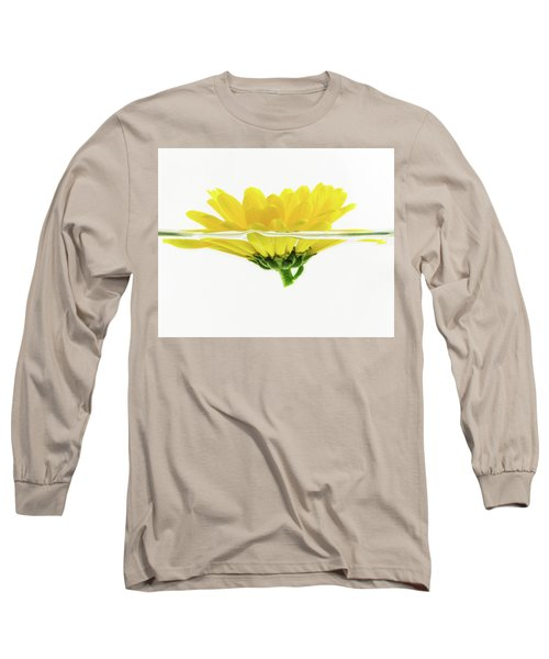 Yellow Flower Floating In Water Long Sleeve T-Shirt