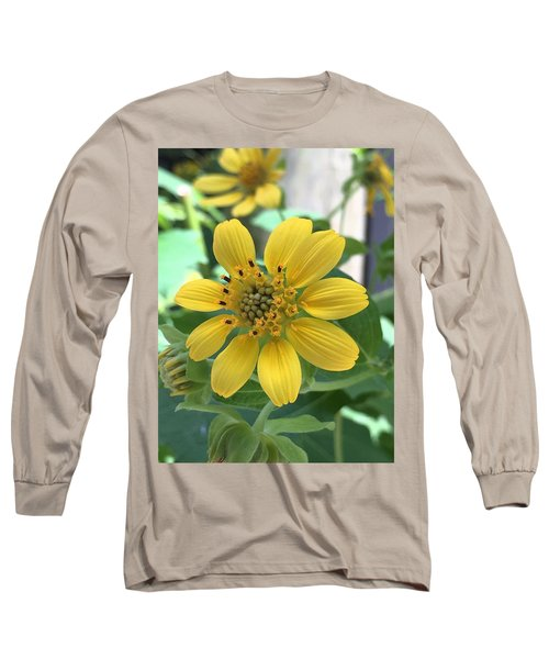 Yellow Flower Long Sleeve T-Shirt by Kay Gilley
