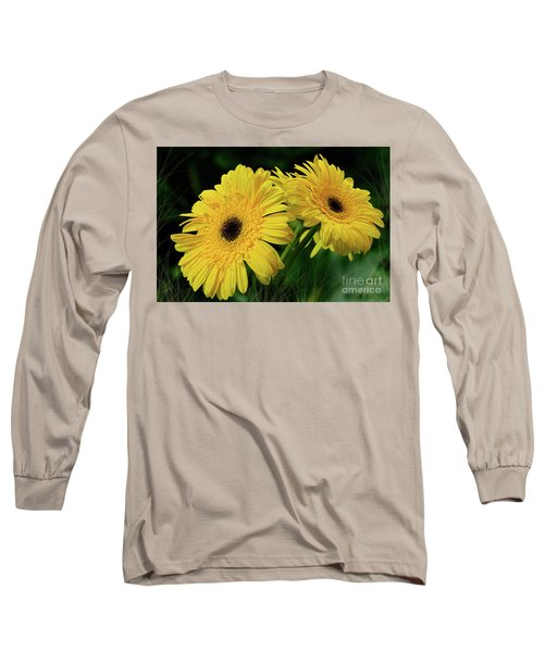 Long Sleeve T-Shirt featuring the photograph Yellow Gerbera Daisies By Kaye Menner by Kaye Menner