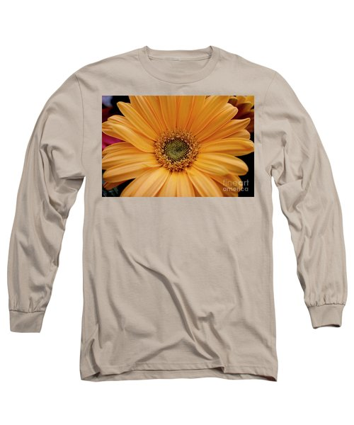 Yellow Gerbera Daisy Long Sleeve T-Shirt by Ivete Basso Photography